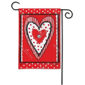 Button Valentine Garden Flag