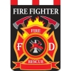 FIREFIGHTER GARDEN FLAG Thumbnail