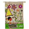 GOOD LIFE BURLAP FLAG Thumbnail