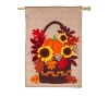 AUTUMN BASKET HOUSE BURLAP FLG Thumbnail