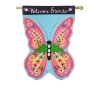 BUTTERFLY WELCOME LG LINEN FLG Thumbnail