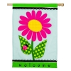 WELCOME DAISY APPLIQUE FLAG Thumbnail