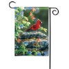 CARDINAL PERCH GARDEN FLAG Thumbnail
