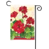 GERANIUMS & CHECKS GARDEN FLAG Thumbnail