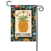 FLORAL PINEAPPLE GARDEN FLAG Thumbnail