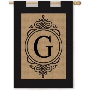 All Burlap Initial flags