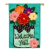 WELCOME YA'LL FLOWERS BURLAP Thumbnail