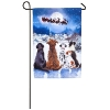 CHRISTMAS DOGS GARDEN FLAG Thumbnail