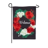 WELCOME GERANIUMS BURLAP GARDE Thumbnail