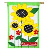 SUNFLOWERS APPLIQUE FLAG Thumbnail