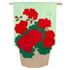 GERANIUM BASKET APPLIQUE FLAG Thumbnail