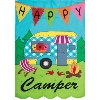APPLIQUE HAPPY CAMPER GRDN FLG Thumbnail