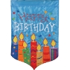 BIRTHDAY CANDLES GARDEN FLAG Thumbnail
