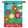 WELCOME BLOOMS FLAG Thumbnail