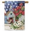 PATRIOTIC BIRDHOUSE FLAG Thumbnail